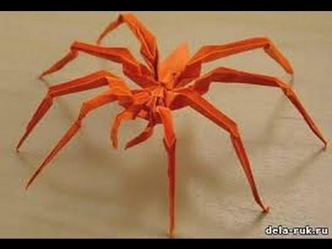 Как сделать из бумаги паука? 37