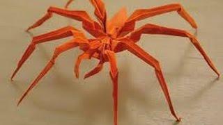 Паук оригами.Spider origami(Как сделать паука из бумаги.How to make a spider paper., 2016-01-17T16:26:53.000Z)