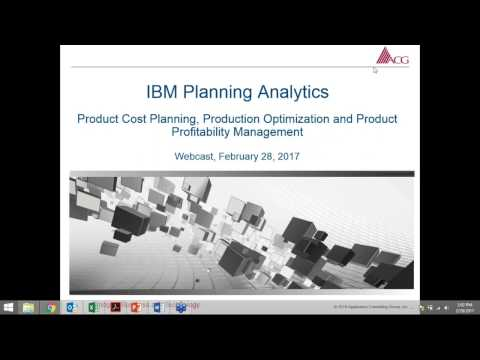 IBM Planning Analytics Workspace Demo - Product Cost Planning & Product Profitability Management
