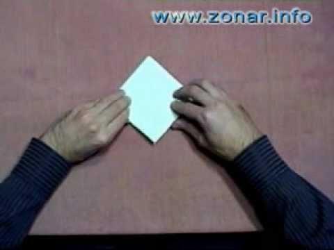 Оригами - Пилотка (будёновка)