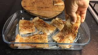 OVEN BAKED FISH FILLET  Baked Cod Fish QUARANTINE LOCKDOWN RECIPE