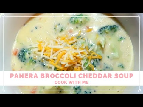 PANERA BROCCOLI CHEDDAR SOUP: COOK WITH ME | AlwaysLindsey