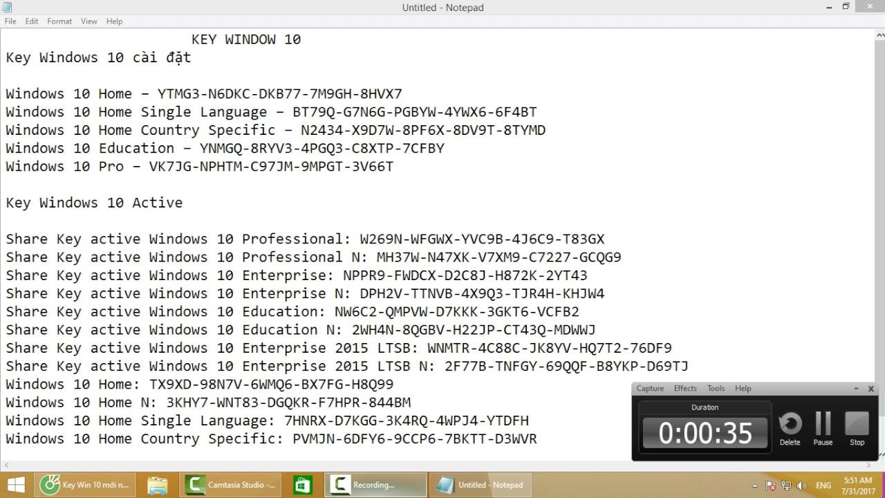 CD KEY WINDOW 10 - YouTube