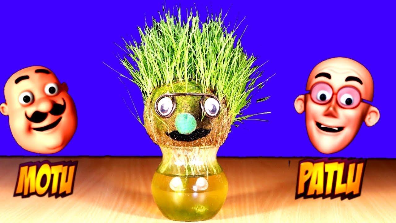 Download Best ever Garden decoration idea | Motu Patlu grass hair cartoon | DIY