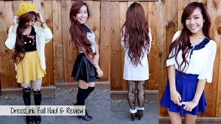 DressLink Fall Haul & Review l 2014 Autumn Fashion Lookbook l How to Style Tights