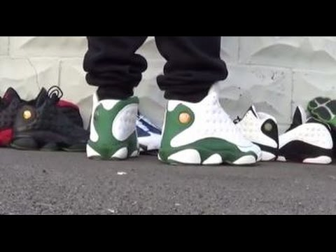 promo code 412cd 03ce6 Air Jordan Ray Allen 13 XIII PE Shoes On Feet With @DjDelz ...