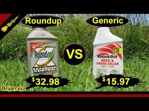 Roundup vs Generic Weed Killer