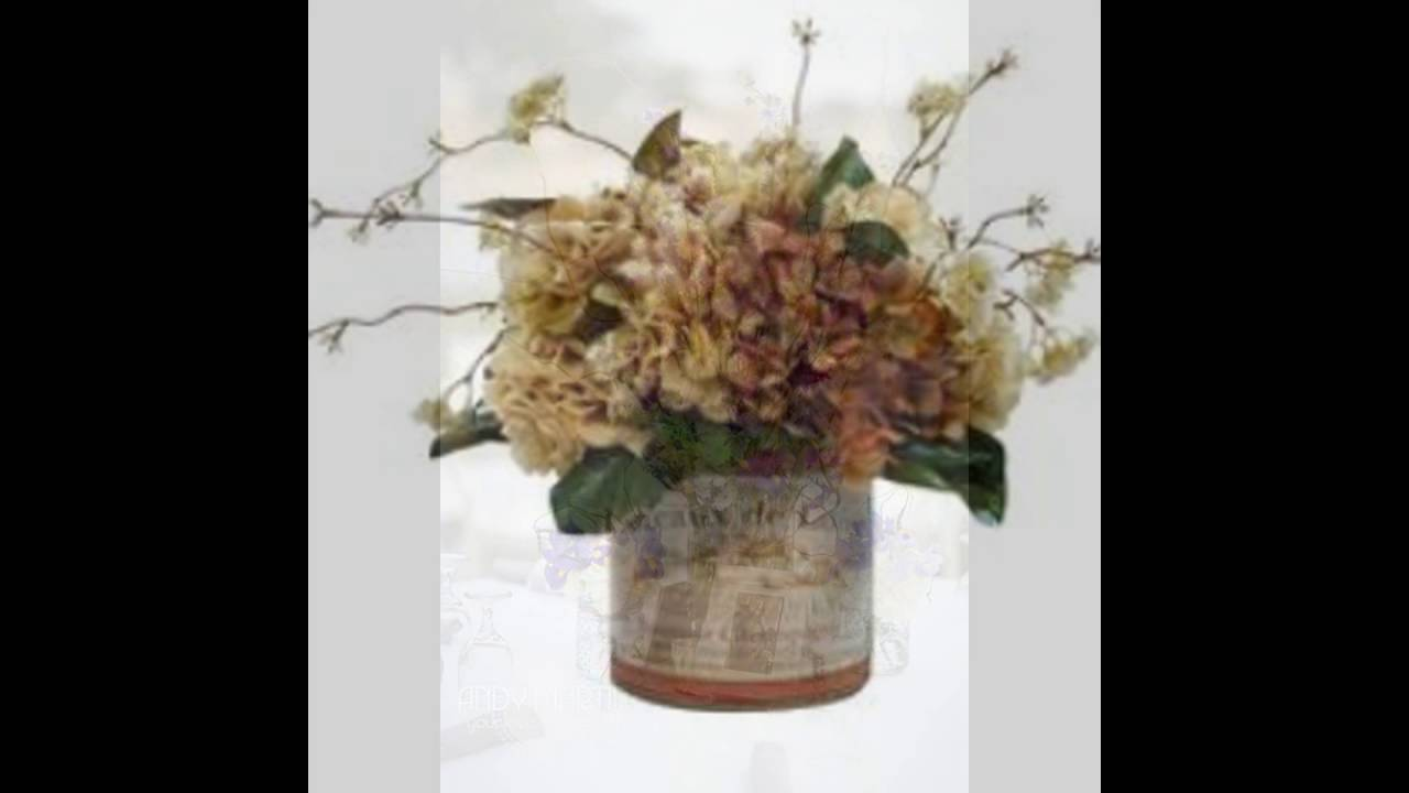 Centerpieces with dried hydrangeas and hypercium youtube