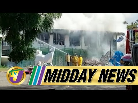 Fire at Edna Manley College   Cocaine Seized in Mobay Jamaica   TVJ Midday News