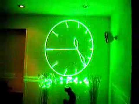 3d Laser Clock New Youtube