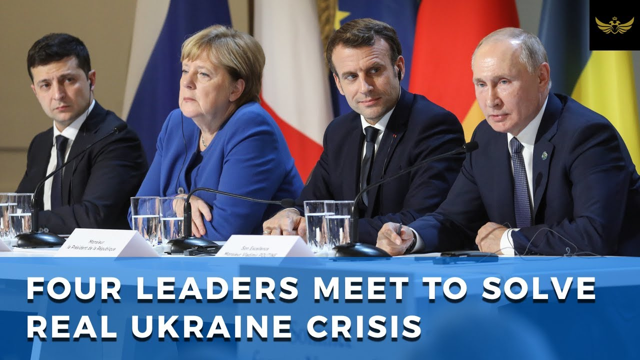 Merkel, Macron, Putin & Zelensky meet in Paris to find solution to crisis in East Ukraine
