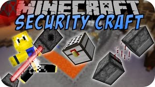 Minecraft SECURITY CRAFT (ALARM, LASER, PANZERGLAS)