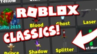 MY CLASSIC KNIFE COLLECTION (Roblox Murder Mystery 2)