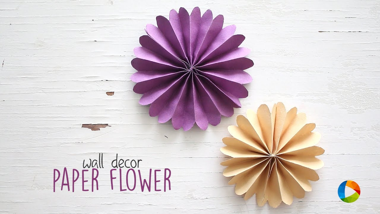 DIY Wall Decor Paper Flowers - YouTube