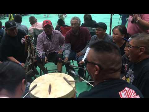 White Ridge Singers Whitehorse High School pow wow 2016