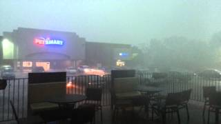 May 29, 2013 rain storm Latham Farms Shopping Center
