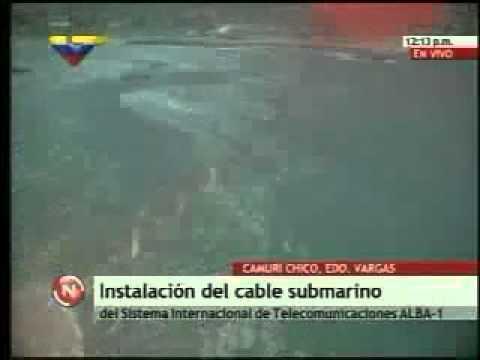 Instalación del cable submarino entre Venezuela y Cuba   YouTube