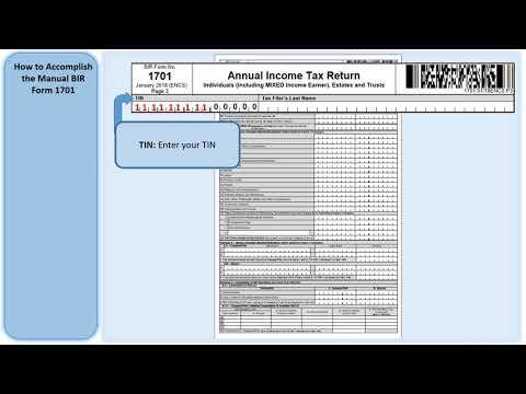 th-movie - How to accomplish Manual BIR Form 1701 version 2018