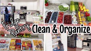 FRIDGE ORGANIZATION // PANTRY ORGANIZATION // CLEAN WITH ME