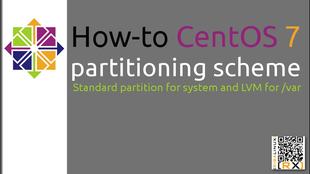 How-to CentOS 7 partitioning scheme Standard partition for system and LVM  for /var