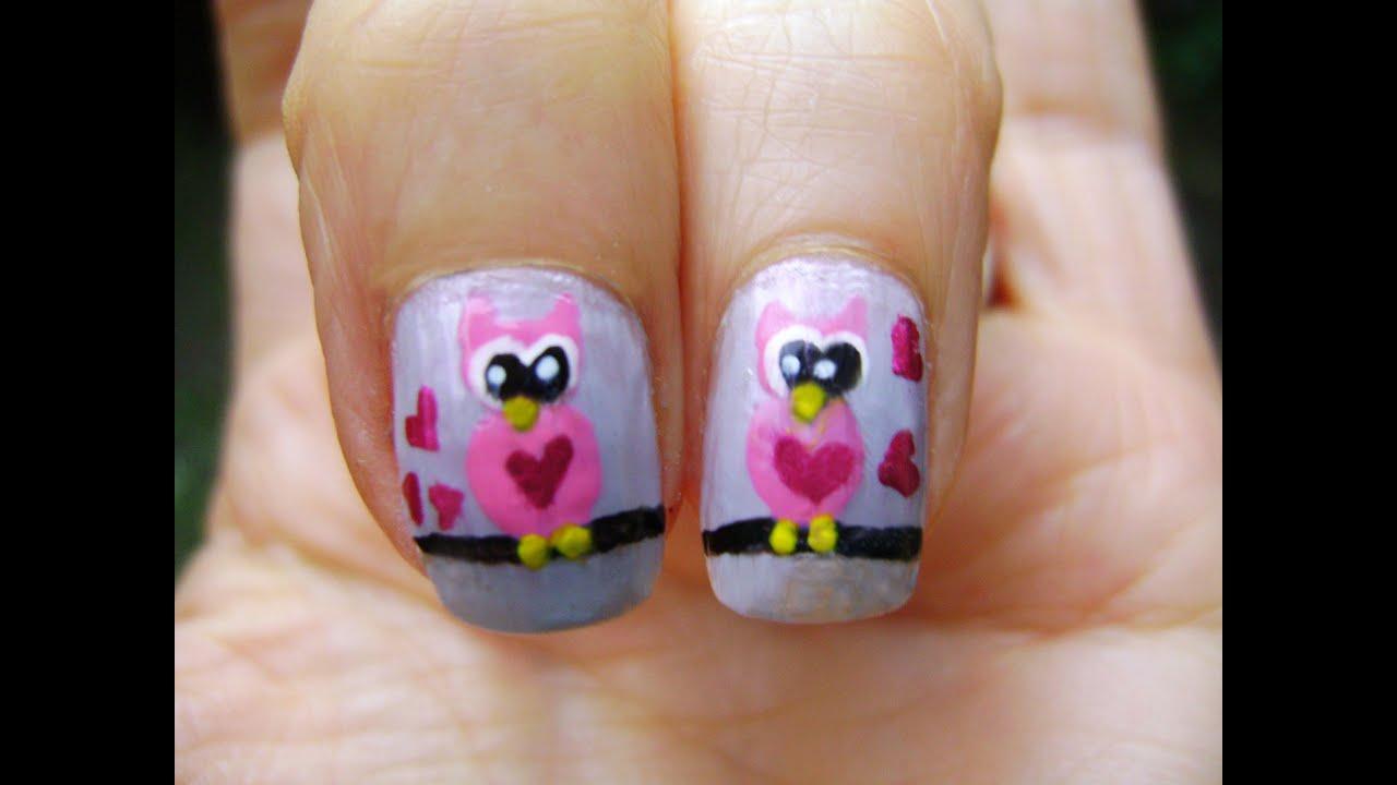 U as buhos enamorados nails love owls youtube - Decoracion con buhos ...