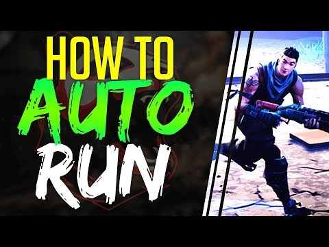 Fortnite Battle Royale HOW TO AUTO RUN On CONSOLE And PC (Xbox One, PS4, PC)