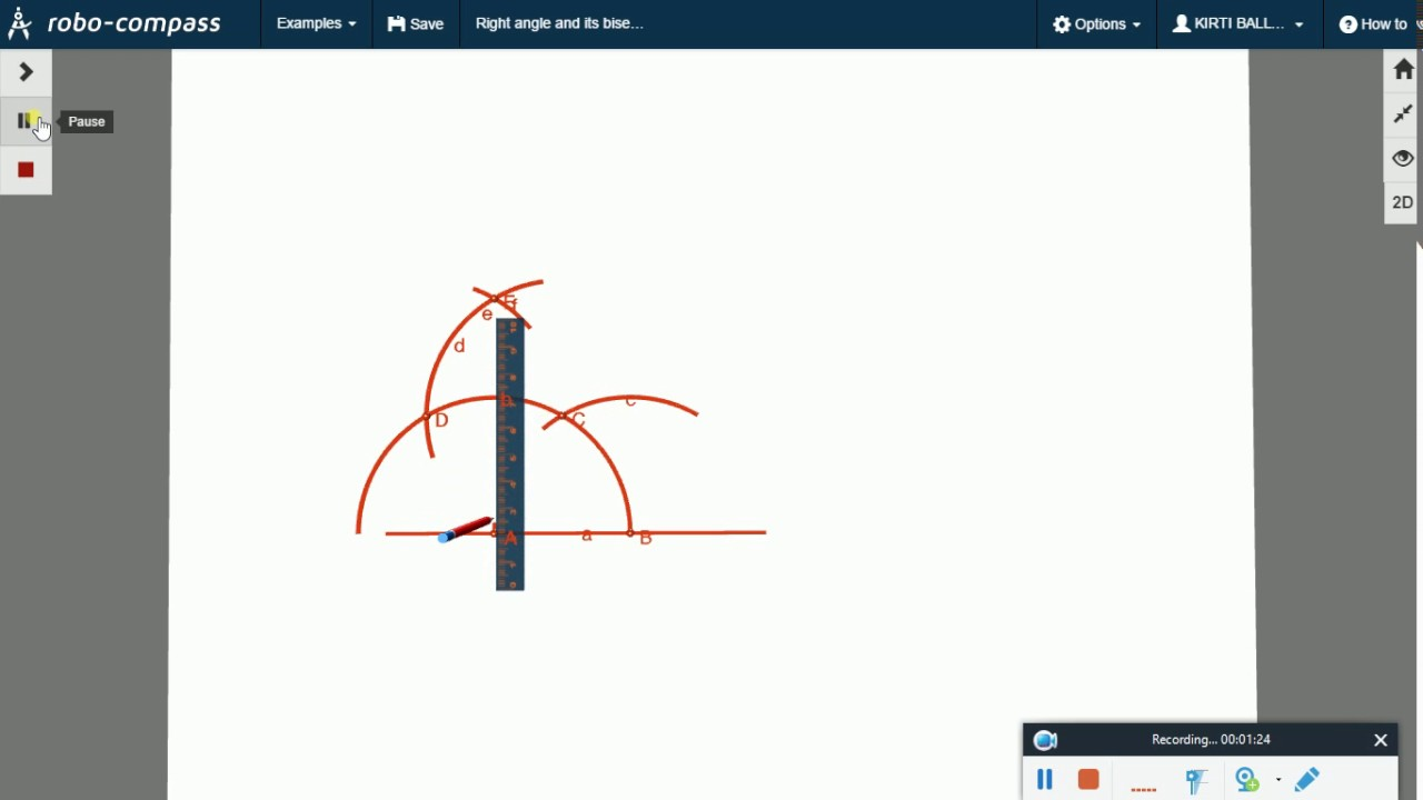 How to bisect a 90 degree angle