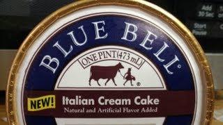 Blue Bell Italian Cream Cake Ice Cream Review