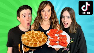 EATING ONLY Viral TikTok FOOD HACKS for Dinner!!