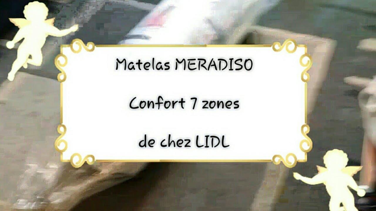 Déballage Du Matelas Meradiso Confort 7 Zones De Chez Lidl