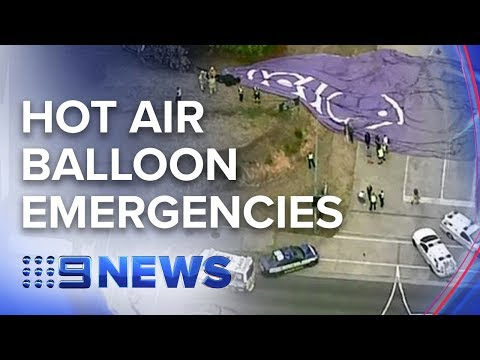 Two hot air balloons crash in separate Melbourne incidents |