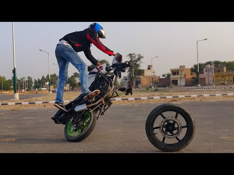 Ultimate Without Front Wheel Bike Stunts On Apache RTR 160 by MAAN STUNT RIDER