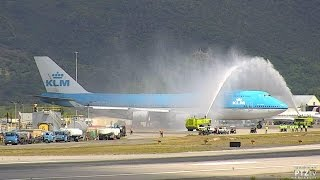 KLM 747 - Final Visit to St. Maarten (SXM) on 10/28/2016