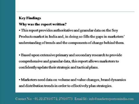 The Future of the Soy Products Market in India to 2018