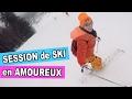 VLOG - Session de SKI en AMOUREUX en VACANCES à la neige - On découvre les pistes - MEL & ALEX
