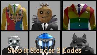 Stop It Slender 2 Codes! || ROBLOX