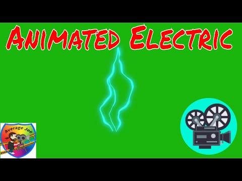 Animated Electric on Green Screen 1080p-HD Free