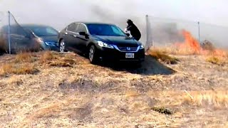 Hero Saves Panicked Drivers From California Fires