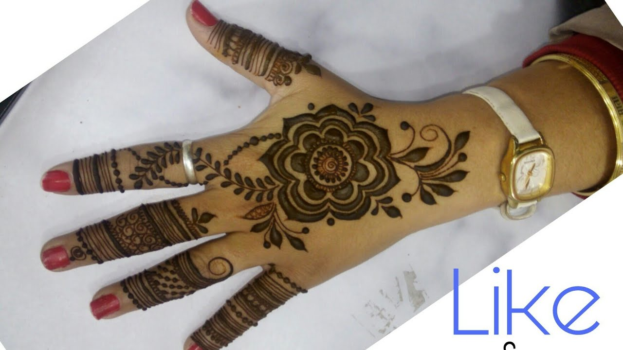 New Mehndi Designs 2018 Arabic Latest Gulf Mehndi Design Easy