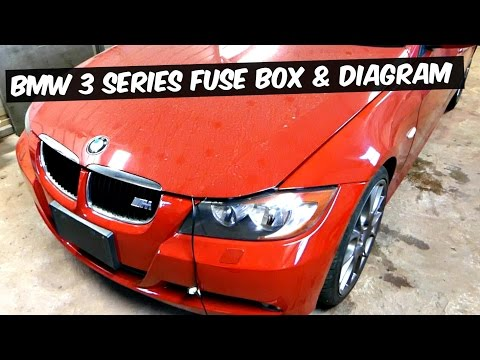 BMW E90 E92 E93 FUSE BOX LOCATION AND FUSE DIAGRAM 318i 320i 323i 325i 328i  330i 335i 320d 330d 335d - YouTubeYouTube