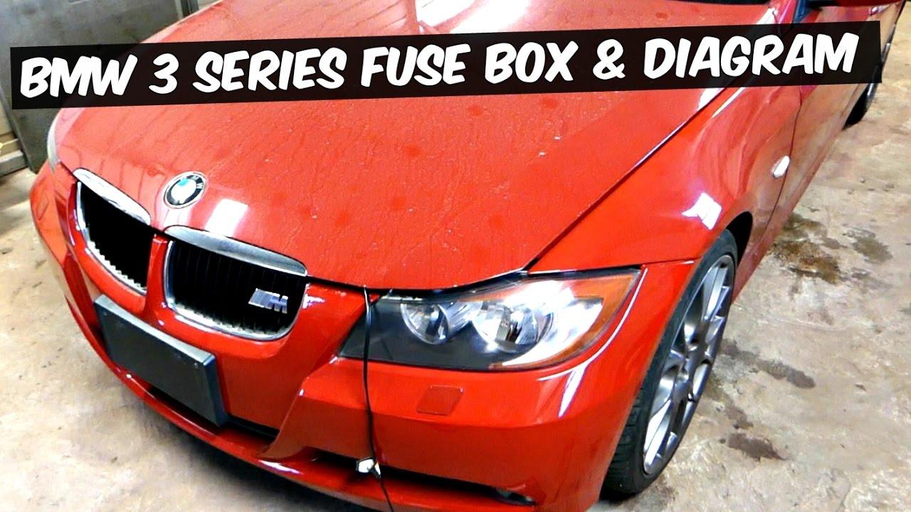 BMW E90 E92 E93 FUSE BOX LOCATION AND FUSE DIAGRAM 318i