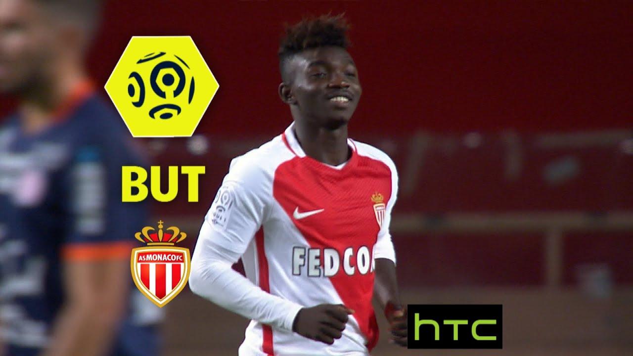 But Adama TRAORE (89') / AS Monaco - Montpellier Hérault ...