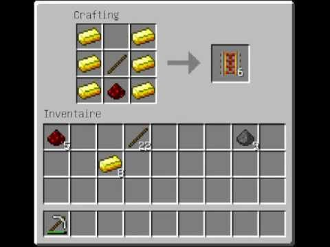 how to craft a rail in minecraft comment faire des rails d acceleration 8115