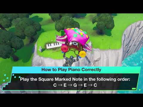 Fortnite | Visit an Oversized Piano Location