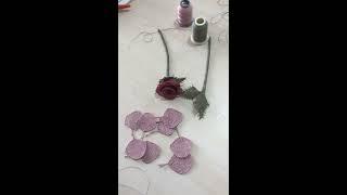 İğne oyasi tesbih gülü (rose)en yeni modrl