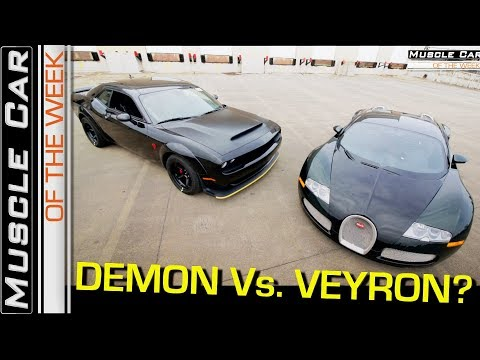 2018 Dodge Demon Vs. Bugatti Veyron Video: Muscle Car Of The Week Episode 258 V8TV