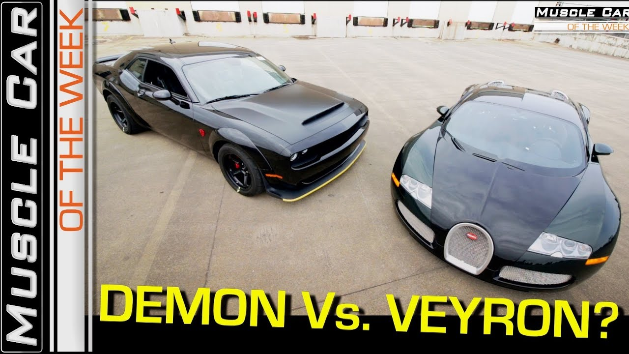 2018 Dodge Demon Vs. Bugatti Veyron Video: Muscle Car Of The Week Episode 258 V8TV