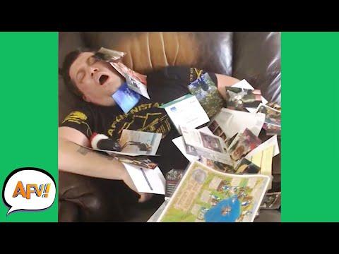 Falling Asleep on the FAIL?! 😂 | Funny Dad Fails | AFV 2021