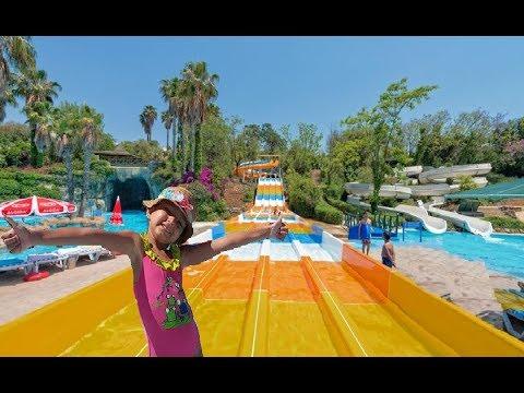 Antalya Aqualand Tüm Aquaparkı Baştan Sona Geziyoruz Dev Kaydıraklar Eğlenceli çocuk Videosu