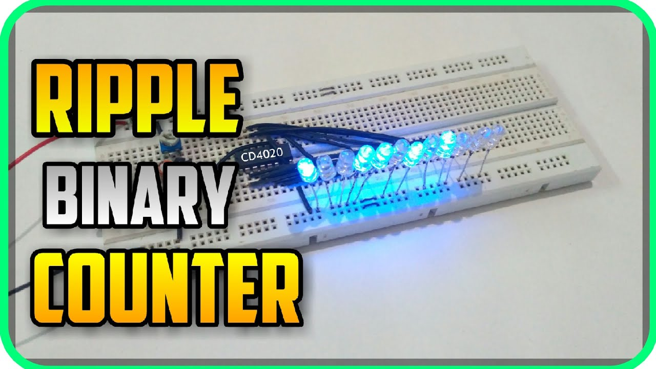How To Use Cmos 4020 14 Bit Ripple Binary Counter Introduction Circuit